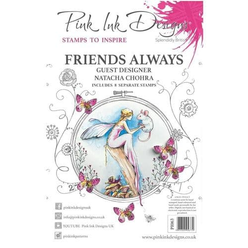 Pink Ink  A5 Friends Always Clear Stamp Set
